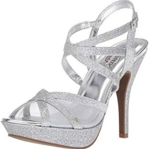 Unlisted Hour Friend GL Silver Heeled Sandals